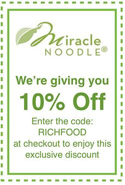 Miracle Noodle - 10% Off with code RichFood