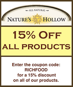 Nature's Hollow - 15% Off with code RichFood