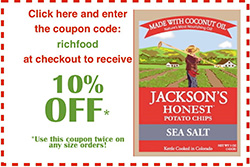 Jackson's Honest Chips - 10% off with code RichFood