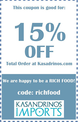 Kasandrinos Imports - 15% off with code RichFood