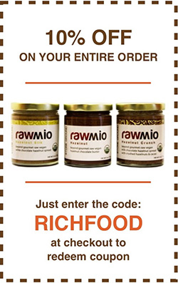 Rawmio Organic Raw & Sprouted Rawmio - 10% Off with code RichFood