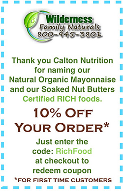 Wilderness Family Naturals - 10% Off Your Order with code RichFood