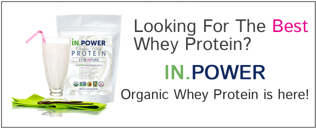 IN.POWER Organic Whey Protein: Stir in Pure!