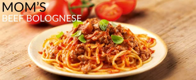 Recipe: Mom's Beef Bolognese