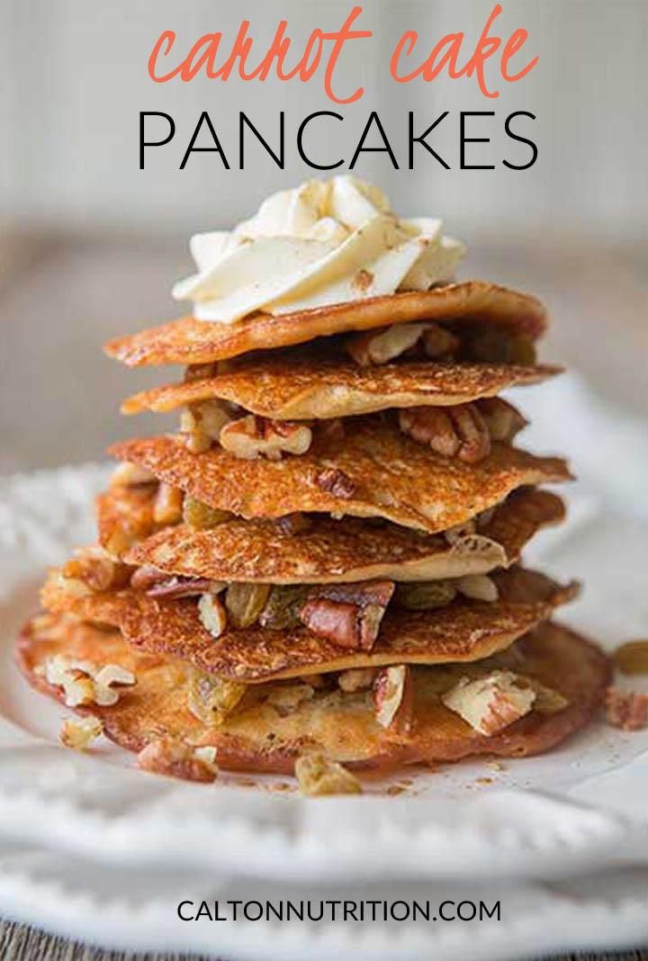 Carrot Cake Pancakes | CaltonNutrition.com