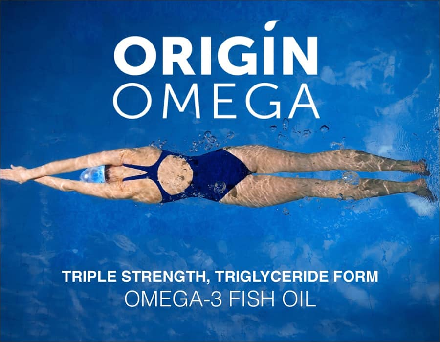 Origin Omega - Triple Strength, Triglyceride form - Omega 3 Fish Oil
